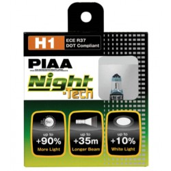 Lot de 2 ampoules PIAA NIGHT Tech - H1 12V 55W a 110W