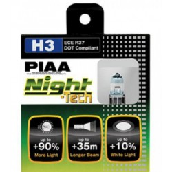 Lot de 2 ampoules PIAA NIGHT Tech - H3 12v  55w/110w