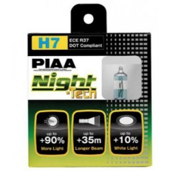 Lot de 2 ampoules PIAA NIGHT Tech - H7  12v  55w/110w