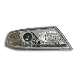 Paire de phares devil eyes Chrome Pour Skoda Octavia 2005-2008
