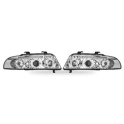 Paire de phares Angel Eyes Chrome pour Audi A4 de 1999 à 2001