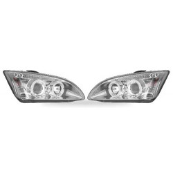 Paire de phares Angel Eyes Chrome pour Ford Focus à  partir de 2005 (5 portes)