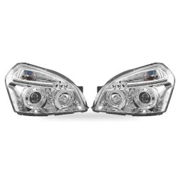 Paire de phares Angel Eyes Chrome pour Hyundai Tucson à  partir de 2004