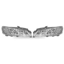 Paire de phares Devil Eyes + Chrome pour Peugeot 306 de 1996 à  1998 (S16)