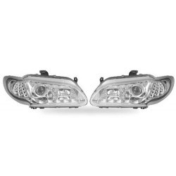Paire de phares Devil Eyes + Chrome pour Renault Megane I - Phase I - de 1996 à  1999