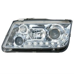 Paire de phares devil eyes Chrome Pour Volkswagen VW Bora 98-